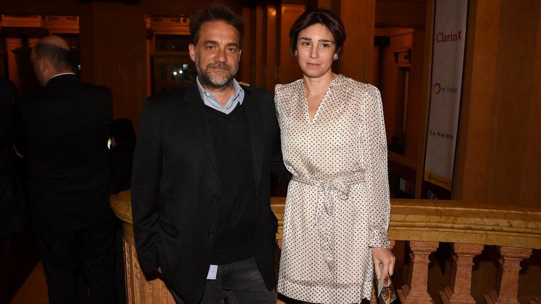 Vicentico y Valeria Bertucelli vibraron durante todo el recital desde uno de los palcos