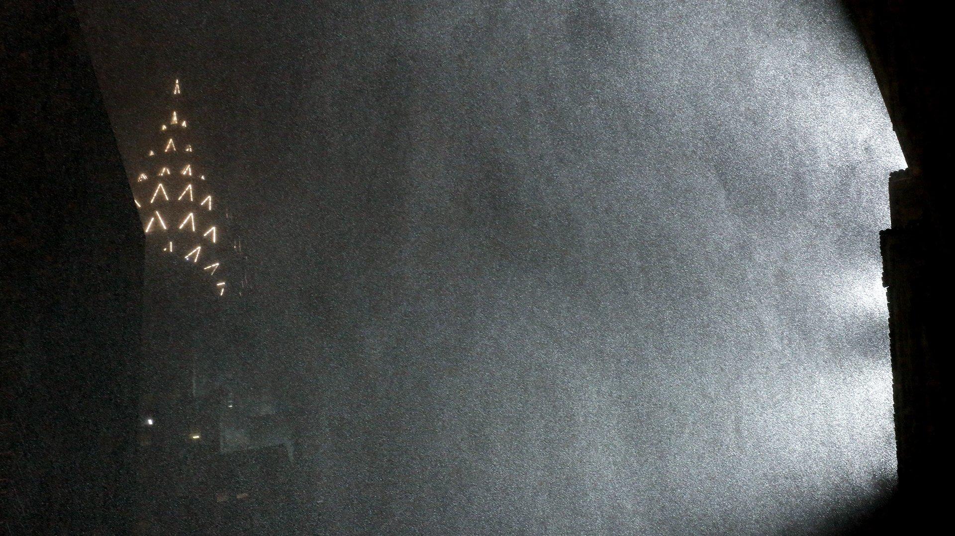 El edificio Chrysler durante la supernevada