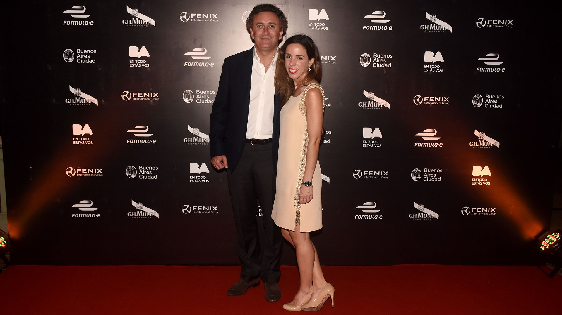 Alejandro Agag, CEO de la Fórmula E, y suesposa Ana Aznar (hija del ex Presidente de España José María Aznar)