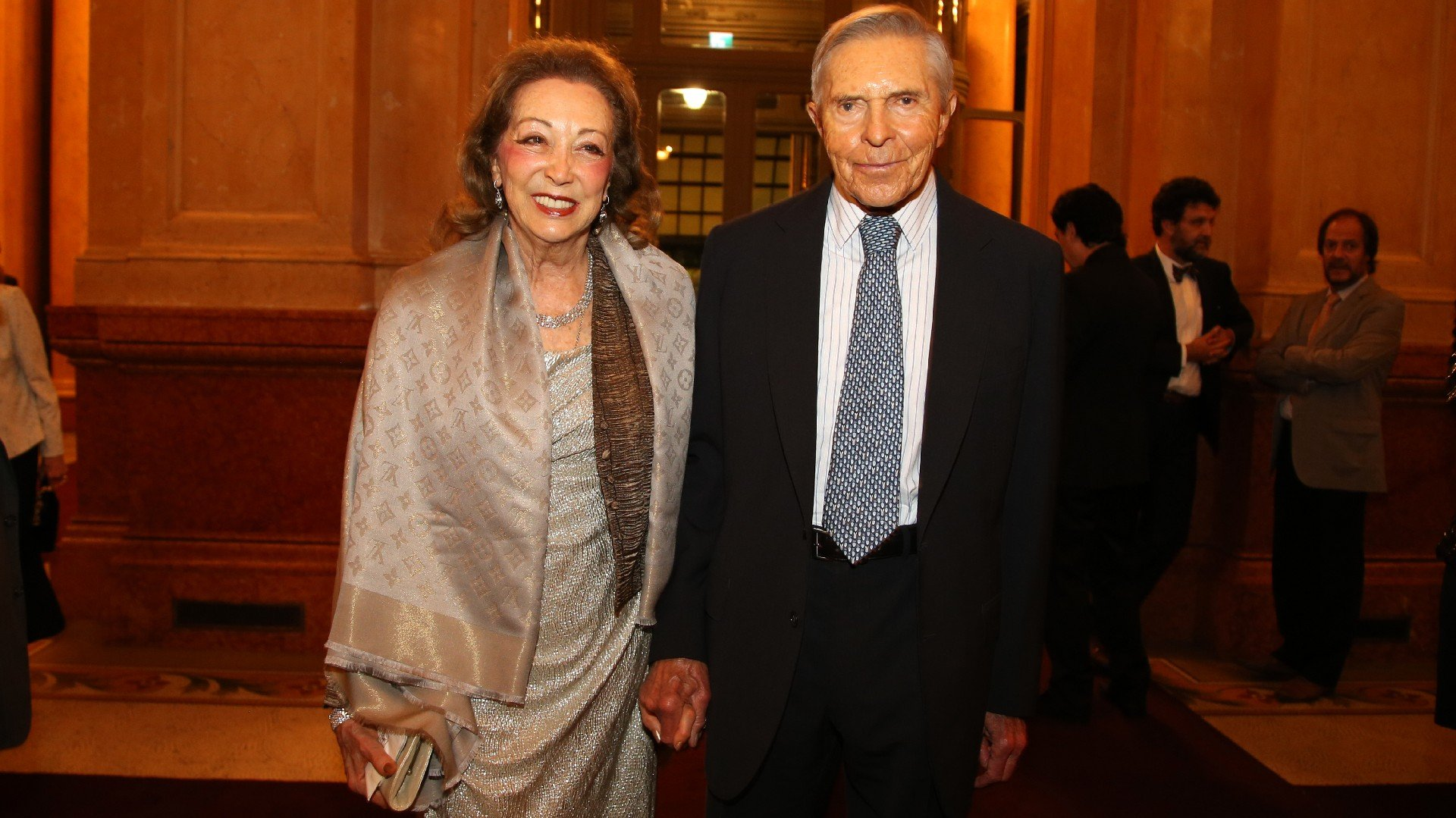 El empresarioAlberto W. Roemmers y Hebe Colman de Roemmers