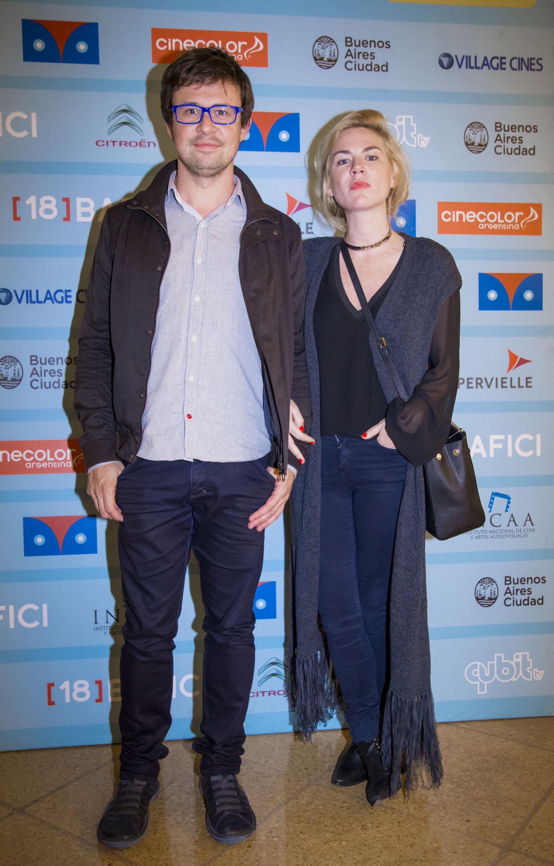 Javier Porta Fouz, director del BAFICI, junto a Esmeralda Mitre