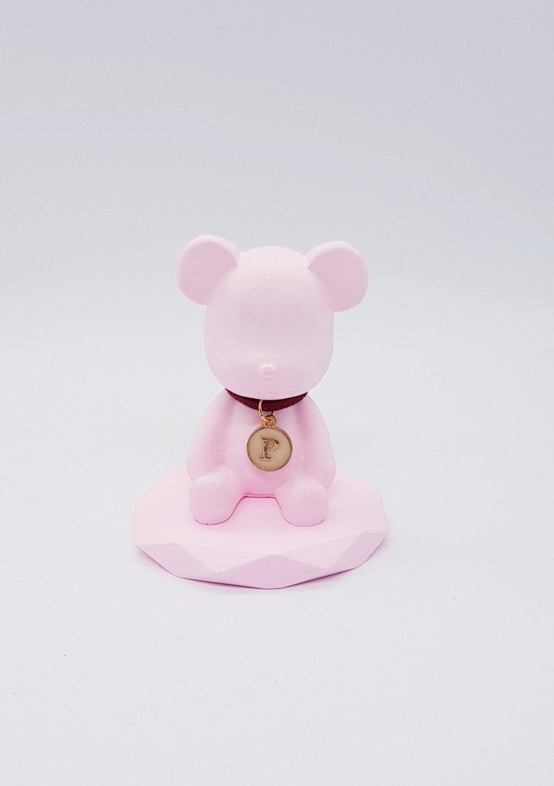 訂製款~客製化A~Z英文字母項鍊小熊擴香石禮盒--生日禮--新婚禮物 - 設計館 Miss Feng | 花藝 | 飾品 x Accessories ...