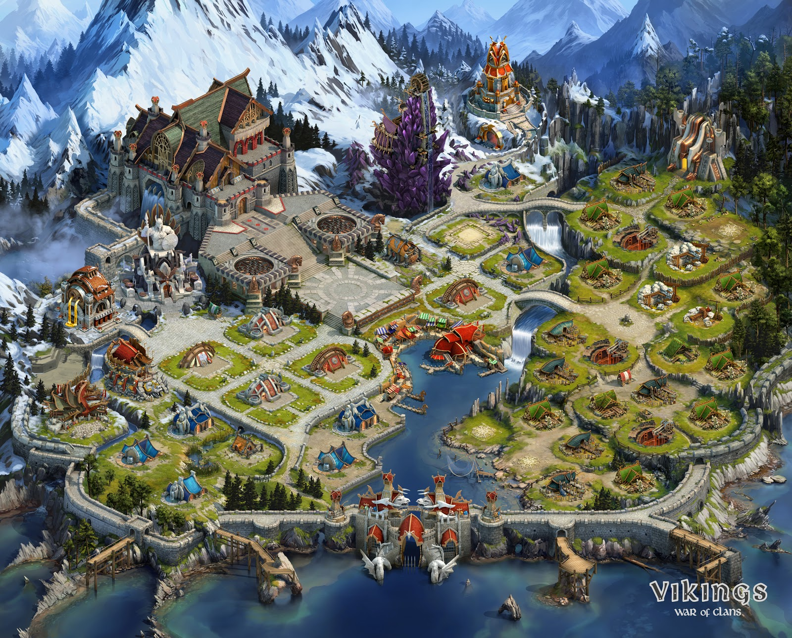 Creation Of The Town Map For The Vikings War Of Clans