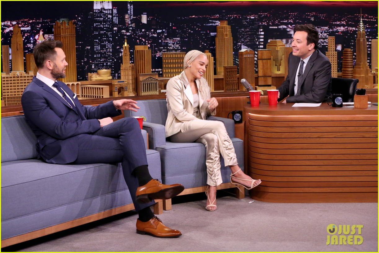 Image result for zoe kravitz on jimmy fallon