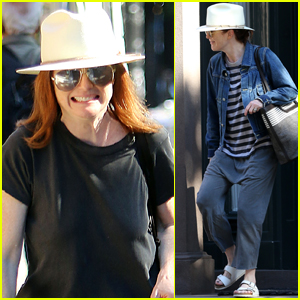 Julianne Moore is All Smiles While Running Errands in NYC