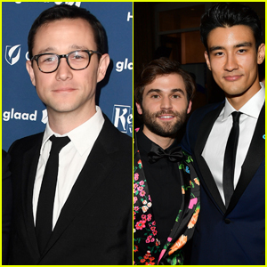 Joseph Gordon-Levitt Joins Jake Borelli & Alex Landi at GLAAD Media Awards 2019
