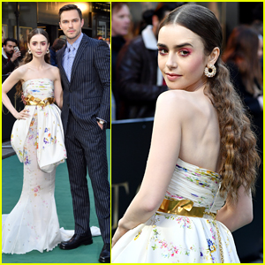 Lily Collins & Nicholas Hoult Are Picture Perfect at 'Tolkien' UK Premiere!