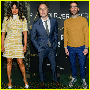 Priyanka Chopra, Zach Braff & Zachary Quinto Attend 'Burn This' Opening Night
