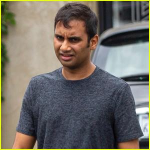 Aziz Ansari Kicks Off His Day at the Gym