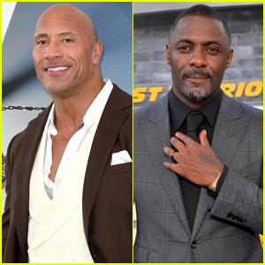 Dwayne Johnson & Idris Elba Look Sharp at 'Hobbs & Shaw' Premiere