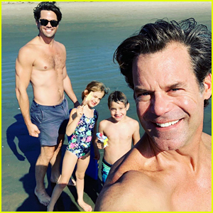 Andrew Rannells & Boyfriend Tuc Watkins Show Off Hot Bodies at the Beach!