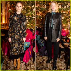 Rose Leslie & Ellie Bamber Attend Tory Burch Holiday Party in London!