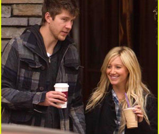 Ashley Tisdale Scott Speer Christmas Coffee Couple
