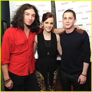 Emma Watson: Nylon Party with Logan Lerman