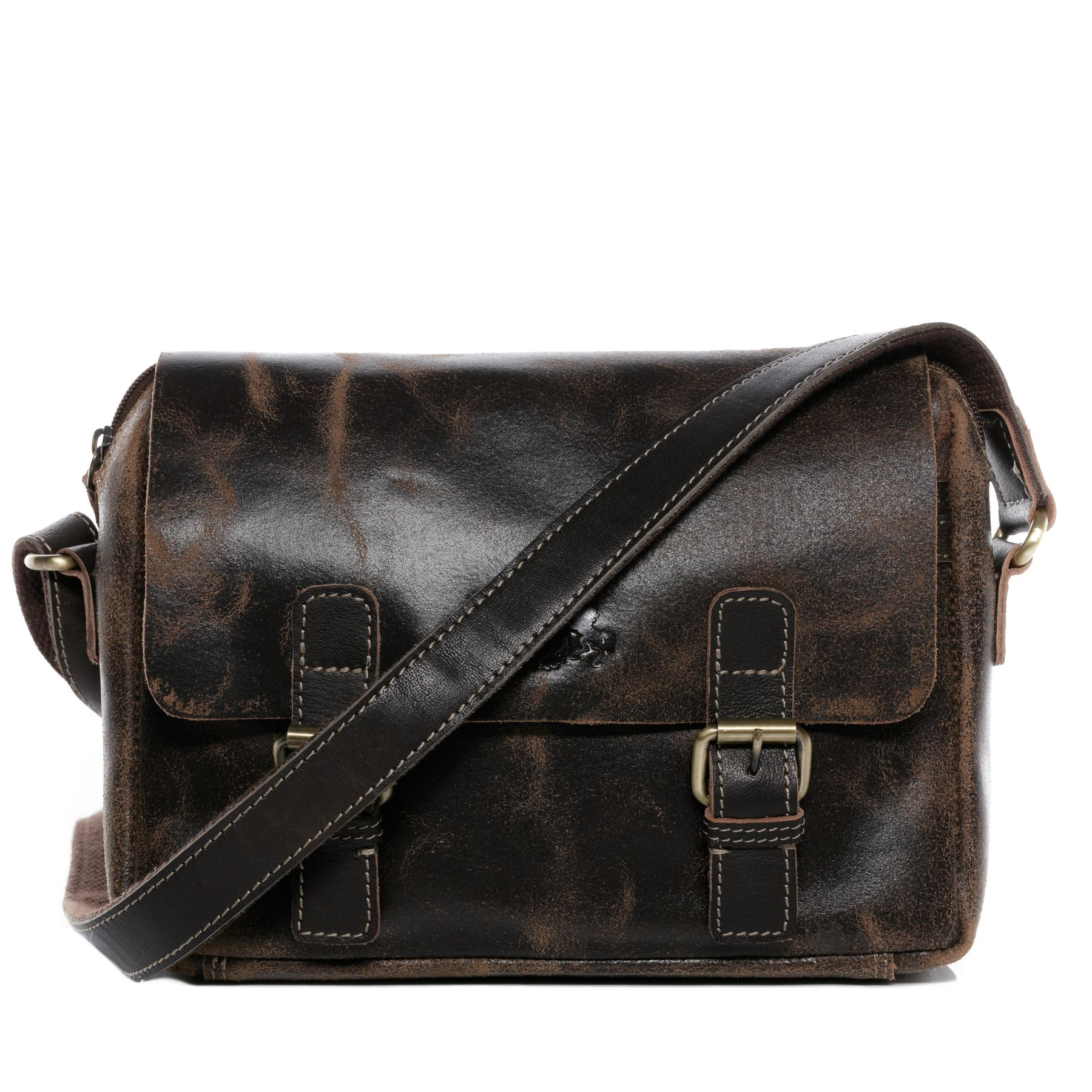 sid vain messenger bag distressed leather yale brown contrastdark shoulder bag cross body bag leather bags laptop bags travel bags suitcases mybagfactory