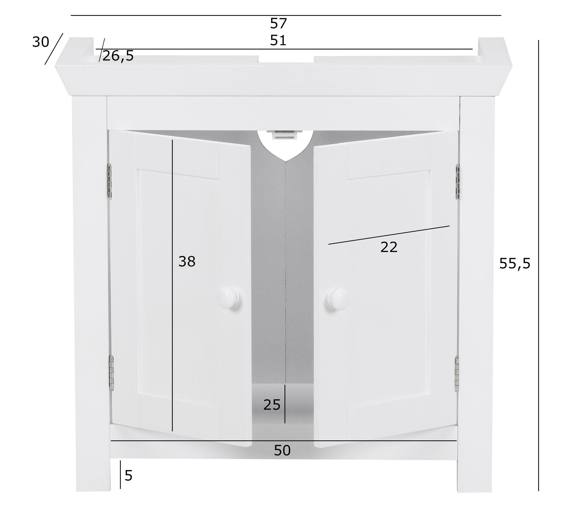 Finebuy Design Waschbeckenunterschrank Fb37103 Badunterschrank Mit