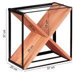 Finebuy Weinregal Massiv Holz Metall 37x37x20 Cm Klein Stehend Design Flaschenregal Fur Die Kuche