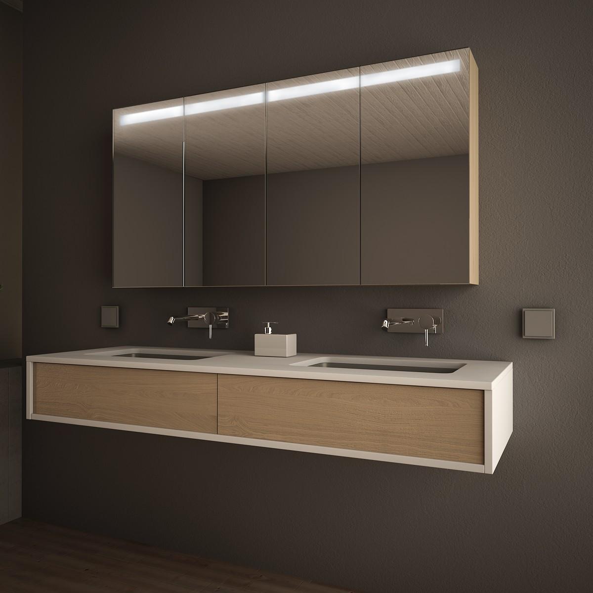 Badezimmer Spiegelschrank Linja Beleuchtet Badspiegel Kaufen Badspiegel Shop Badspiegel Nach Mass