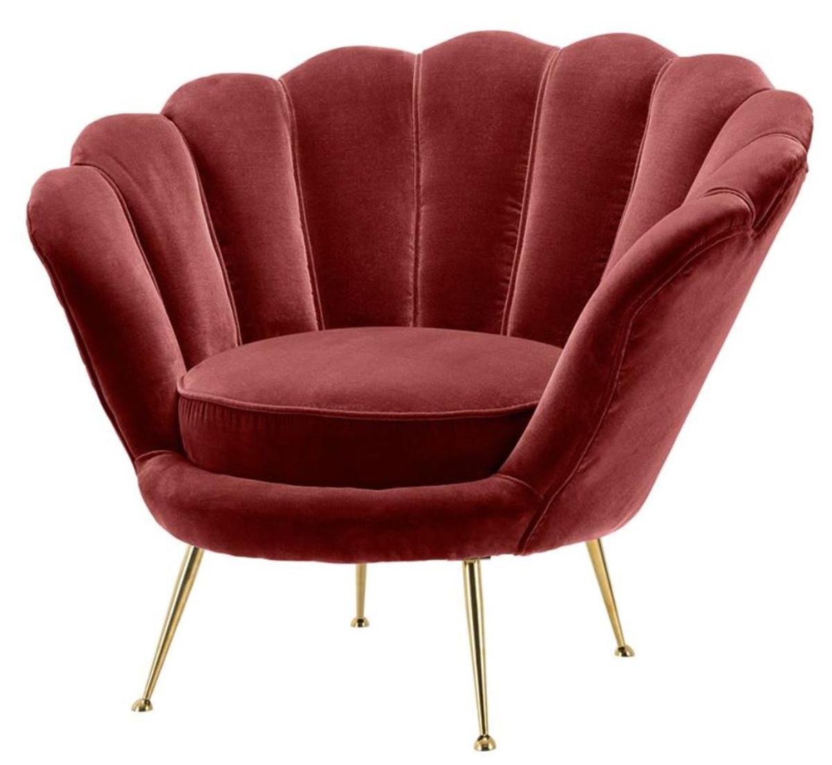 casa padrino fauteuil de luxe vin rouge laiton 96 5 x 79 x h 78 cm mobilier d hotel design
