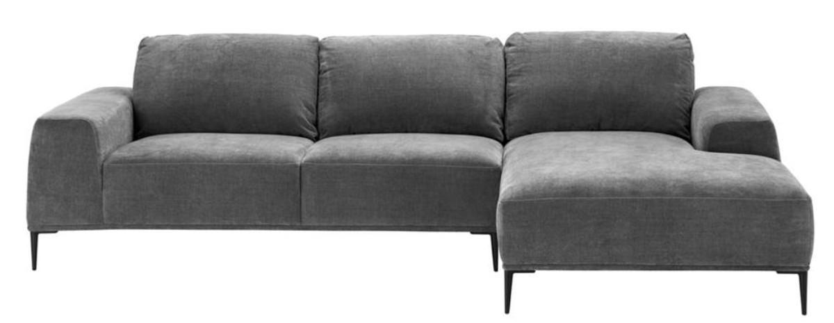 casa padrino canape d angle de salon luxe gris noir 285 x 164 x h 80 cm canape du salon
