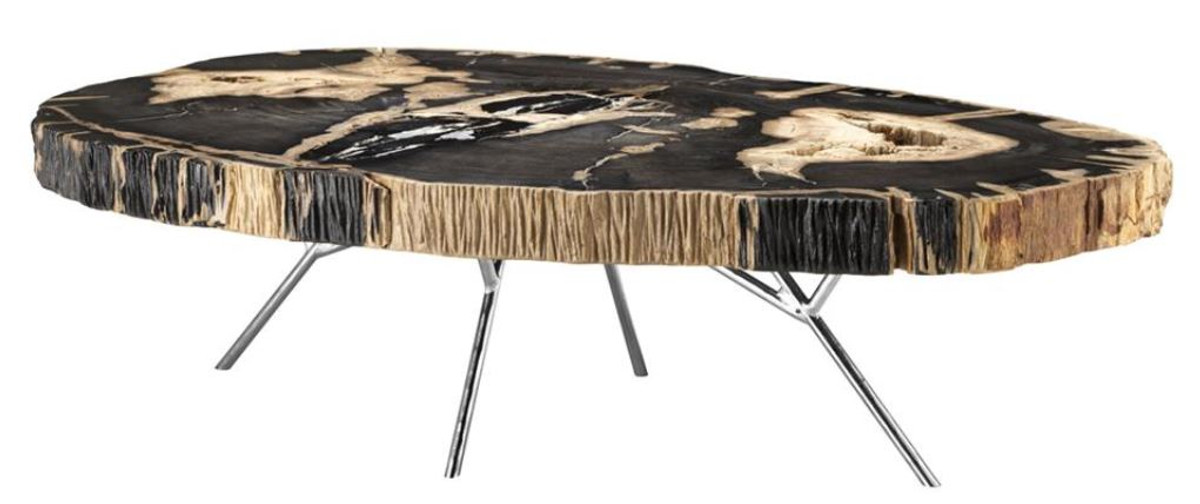 casa padrino luxury coffee table living room table with dark petrified wood table top