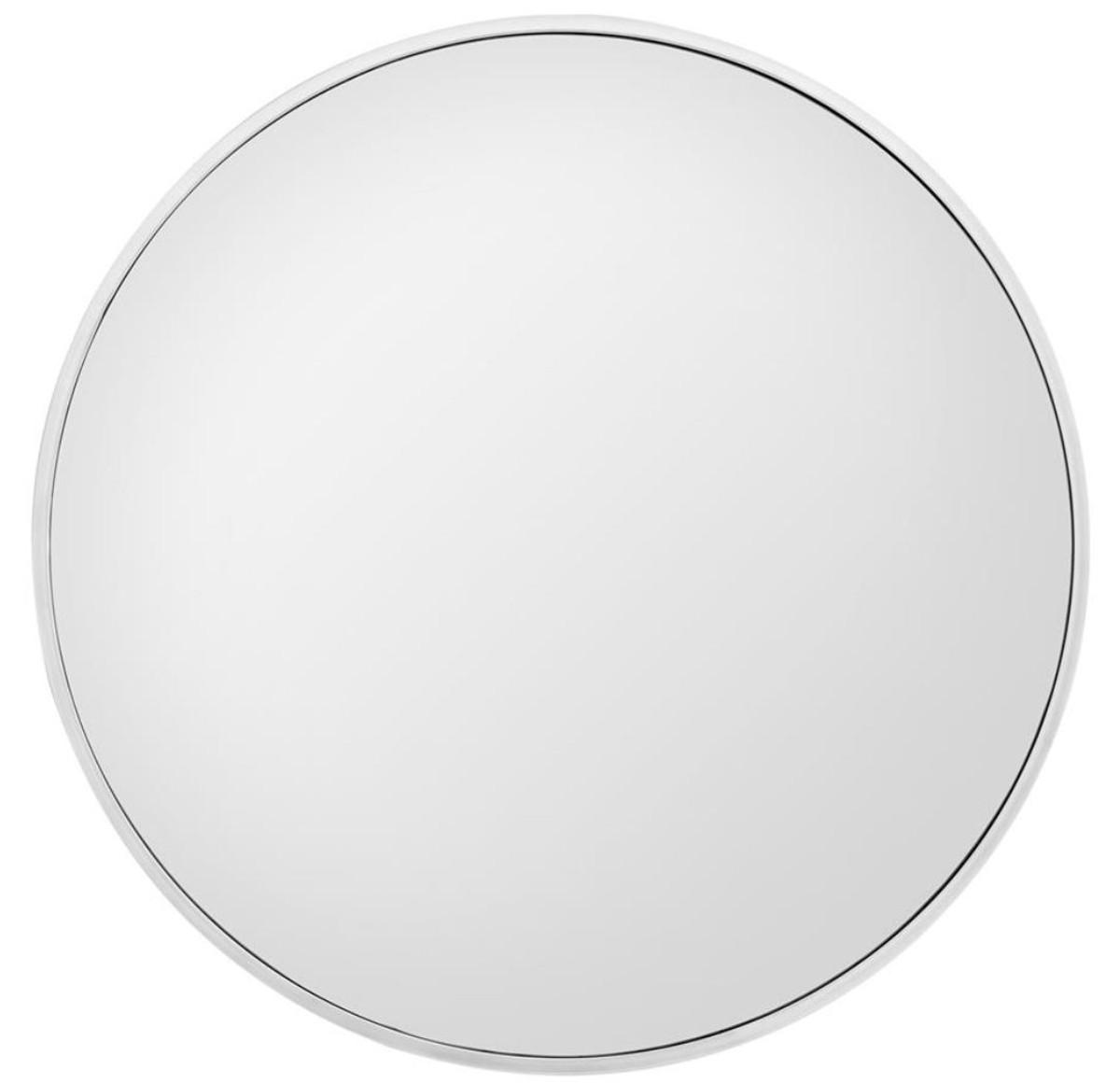 Casa Padrino Miroir Mural De Luxe Argent O 120 Cm Miroir Rond De Luxe