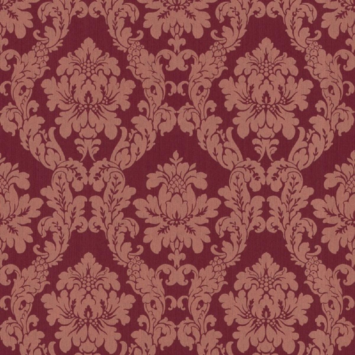 casa padrino papier peint textile papier peint en tissu baroque en viscose rouge 10 05 x 0 53 m papier peint baroque