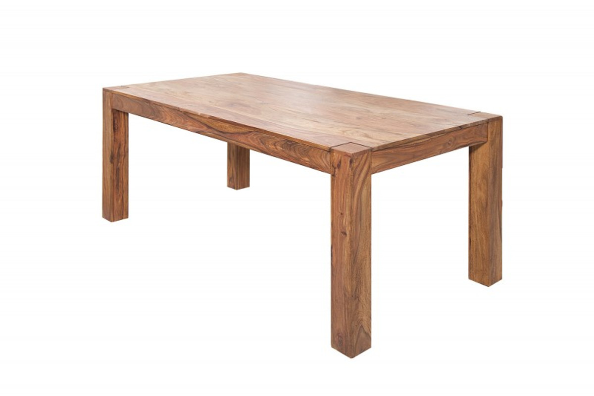 casa padrino designer dining table 160cm solid wood sheesham restaurant furniture heavy duty
