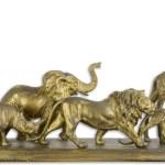 Casa Padrino Deko Skulpturen Tiere Afrikas Antik Gold 68 X 15 2 X H 32 8 Cm Polyresin Dekofiguren Wohnzimmer Deko Barockgrosshandel De