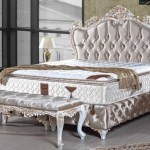 Casa Padrino Baroque Double Bed Silver White Gold Ornate Velvet Bed With Rhinestones And Mattress Bedroom Furniture In Baroque Style