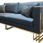 Casa Padrino Luxus Wohnzimmer Sofa Blau Gold 240 X 95 X H 80 Cm Luxus Wohnzimmer Mobel Luxus Qualitat