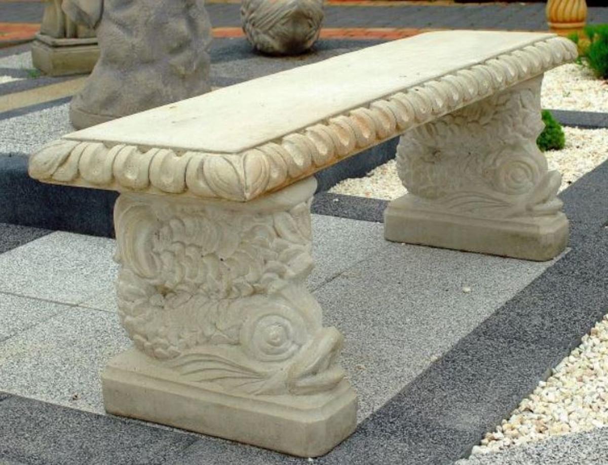 casa padrino garden bench in oriental style white gray 140 x 38 x h 50 cm park bench patio bench garden patio furniture