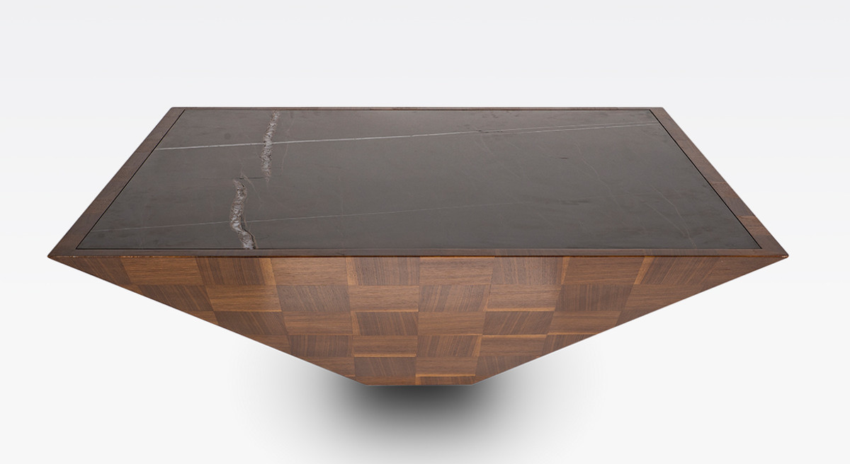 casa padrino luxury coffee table brown black 100 x 100 x h 35 cm modern square solid wood living room table with marble slab living room