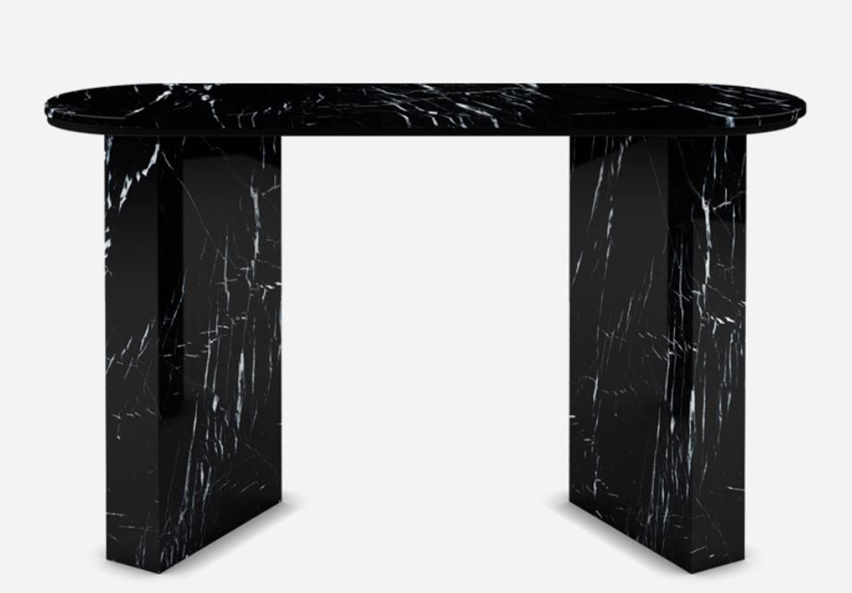 casa padrino luxury marble console black 150 x 45 x h 90 cm modern console table made of high quality marble luxury furniture