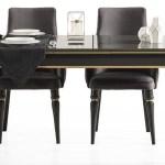 Casa Padrino Luxus Art Deco Esszimmer Set Grau Schwarz Gold 1 Ausziehbarer Esszimmertisch 6 Esszimmerstuhle Art Deco Esszimmer Mobel Luxus Qualitat Barockgrosshandel De