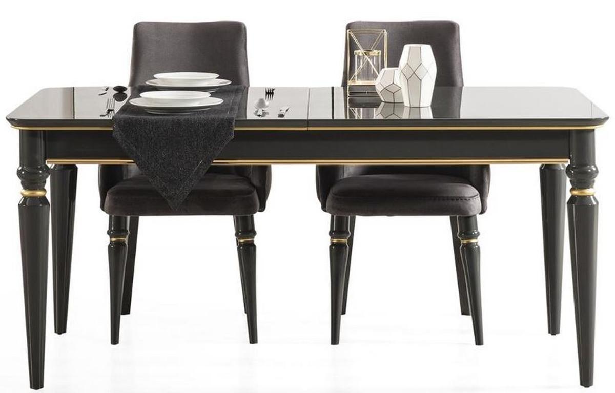 casa padrino luxury art deco dining table black gold 170 208 x 90 x h 76 cm noble extendable dining room table art deco dining room furniture