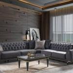 Casa Padrino Luxus Art Deco Chesterfield Wohnzimmer Set Grau Schwarz Gold 1 Ecksofa Mit Kissen 1 Couchtisch Mit Glasplatte Edle Wohnzimmer Mobel Luxus Qualitat