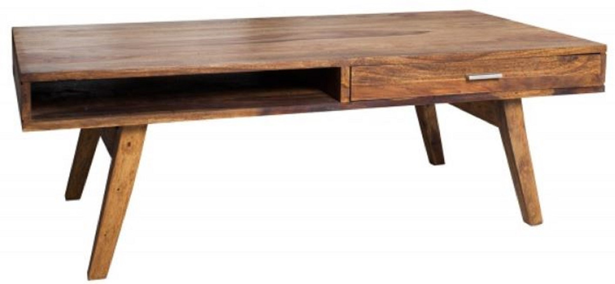casa padrino solid wood coffee table natural 100 x 55 x h 40 cm living room table in retro style living room furniture in retro design