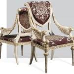 Casa Padrino Luxus Barock Esszimmer Stuhl Set Lila Silber Weiss Gold 62 X 74 X H 103 Cm Prunkvolles Kuchen Stuhle 6er Set Hotel Restaurant Schloss Mobel Luxus Qualitat Made In Italy
