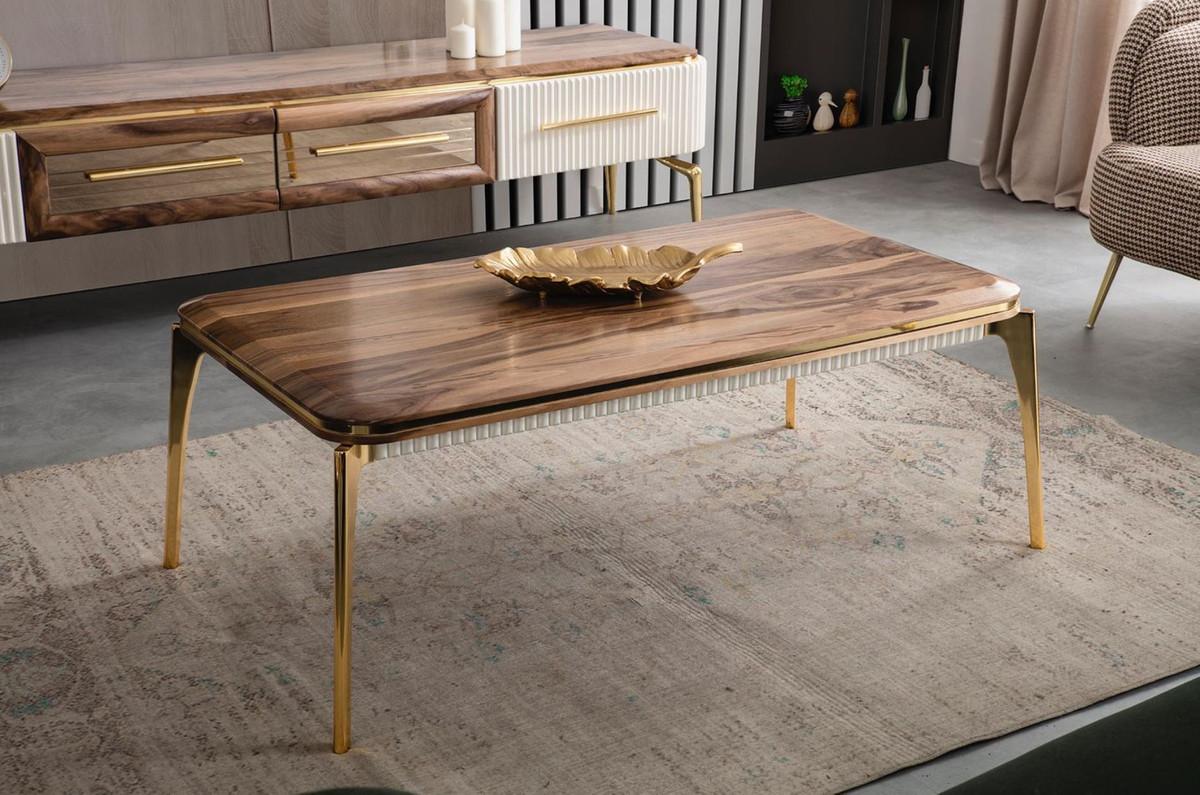 casa padrino table basse art deco de luxe marron or 117 x 62 x h 45 cm table de salon elegante mobilier de salon art deco