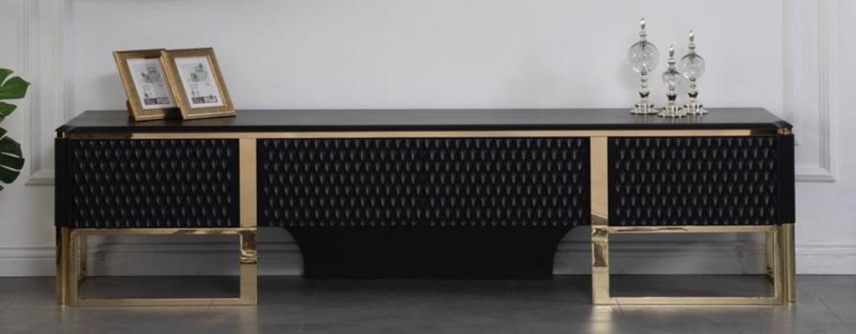 https www casa padrino de fr casa padrino armoire tv de luxe noir or 220 x 50 x h 53 cm meuble tv de salon noble mobilier de salon de luxe a 114671