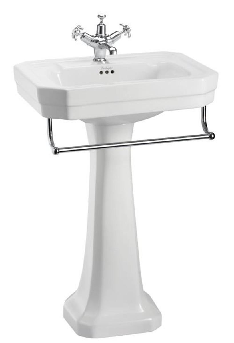 casa padrino porcelain washbasin with pedestal and towel holder antique style washbasin