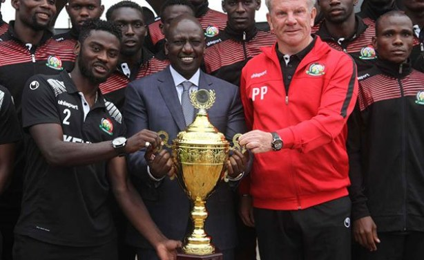 Image result for DP Ruto Gives Harambee Stars Sh5 Million Each
