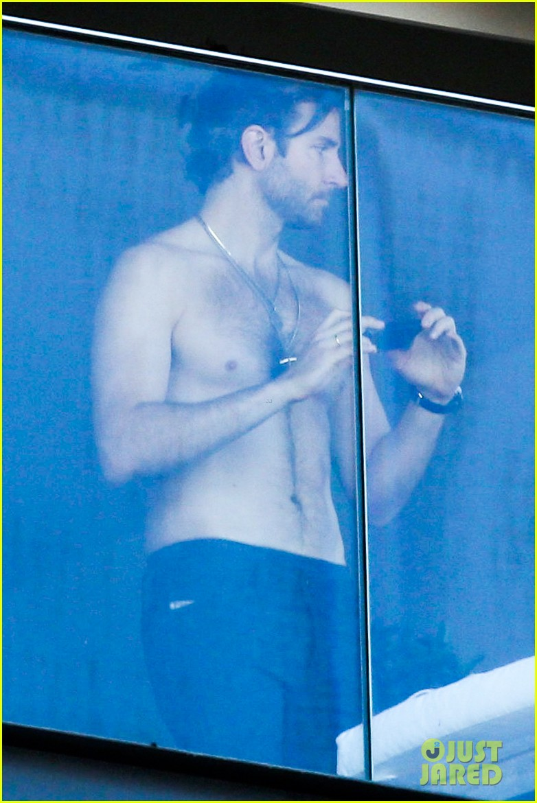 Bradley Cooper Shirtless After Brazil Arrival With
