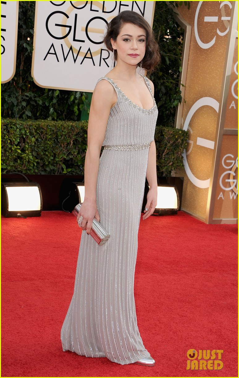 Tatiana Maslany   Golden Globes 2013 Best Dressed   The 1000th Voice