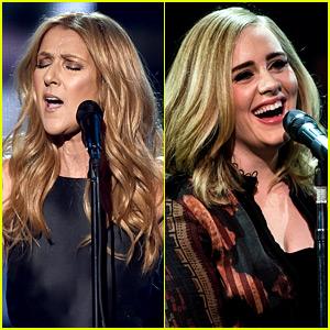 Αποτέλεσμα εικόνας για Adele & τη Celine Dion