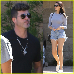 Robin Thicke & Pregnant Girlfriend April Love Geary Step Out for Lunch in Malibu!