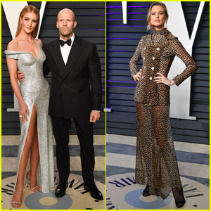 Rosie Huntington Whiteley & Jason Statham Join Behati Prinsloo at Vanity Fair Oscars Party