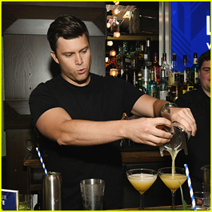 SNL's Colin Jost Bares Buff Biceps While Bartending!