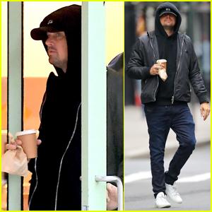 Leonardo DiCaprio Picks Up Breakfast to Go in NYC
